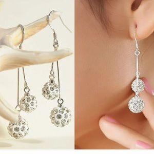 ❤️gorgeous rhinestone disco ball drop earrings